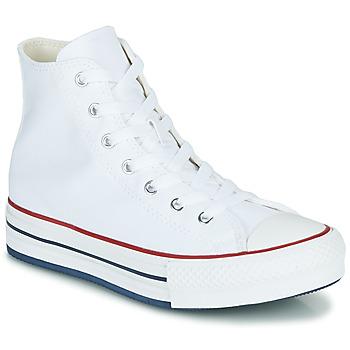 Pantofi Fete Pantofi sport stil gheata Converse CHUCK TAYLOR ALL STAR EVA LIFT CANVAS COLOR HI Alb
