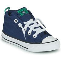 Pantofi Băieți Pantofi sport stil gheata Converse CHUCK TAYLOR ALL STAR STREET CANVAS COLOR MID Albastru