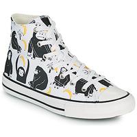Pantofi Copii Pantofi sport stil gheata Converse CHUCK TAYLOR ALL STAR GOING BANANAS HI Alb / Multicolor