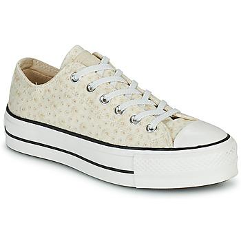 Pantofi Femei Pantofi sport Casual Converse CHUCK TAYLOR ALL STAR LIFT CANVAS BRODERIE OX Alb