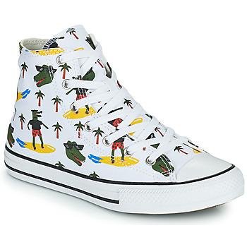 Pantofi Băieți Pantofi sport stil gheata Converse CHUCK TAYLOR ALL STAR CROCO SURF HI Alb / Verde