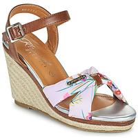 Pantofi Femei Sandale  Kaporal MAKITA Maro / Alb