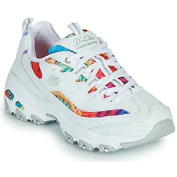 Pantofi Femei Pantofi sport Casual Skechers D'LITES SUMMER FIESTA Alb / Multicolor