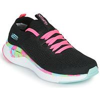 Pantofi Fete Pantofi sport Casual Skechers SOLAR FUSE Negru / Roz
