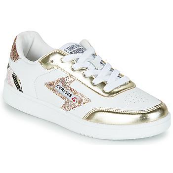 Pantofi Femei Pantofi sport Casual Le Temps des Cerises FLASH Alb / Auriu