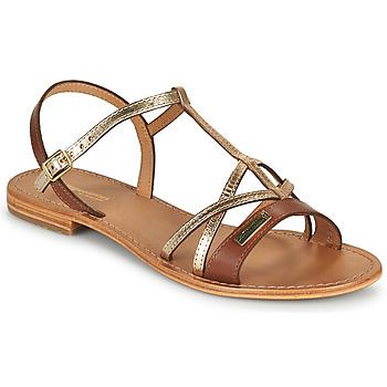 Pantofi Femei Sandale  Les Tropéziennes par M Belarbi HIRONELA Tan / Argintiu