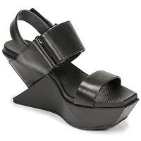 Pantofi Femei Sandale  United nude DELTA WEDGE Negru