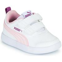 Pantofi Fete Pantofi sport Casual Puma COURTFLEX INF Alb / Roz