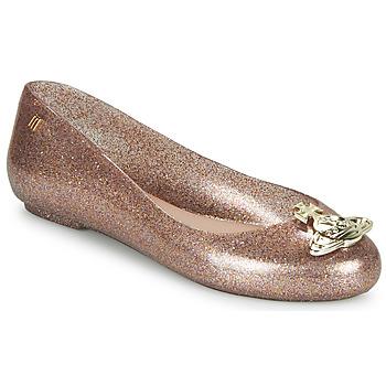 Pantofi Femei Balerin și Balerini cu curea Melissa VIVIENNE WESTWOOD ANGLOMANIA - SWEET LOVE II Roz