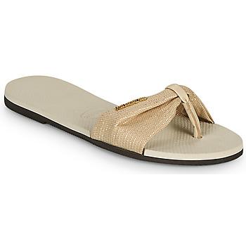 Pantofi Femei  Flip-Flops Havaianas YOU ST TROPEZ SHINE Bej