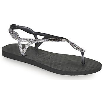 Pantofi Femei  Flip-Flops Havaianas LUNA PREMIUM II Negru / Gri