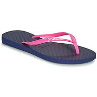 Pantofi Femei  Flip-Flops Havaianas SLIM LOGO Albastru