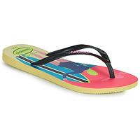 Pantofi Femei  Flip-Flops Havaianas SLIM STYLE MIX Galben