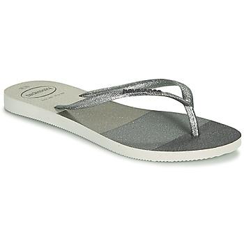 Pantofi Femei  Flip-Flops Havaianas SLIM PALETTE GLOW Alb