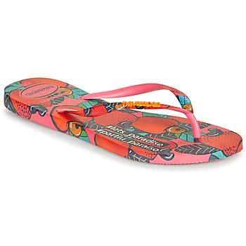 Pantofi Femei  Flip-Flops Havaianas SLIM SUMMER Roz / Roșu