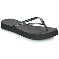 Pantofi Femei  Flip-Flops Havaianas SLIM FLATFORM GLITTER Negru