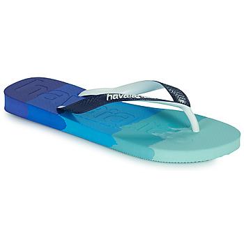 Pantofi  Flip-Flops Havaianas TOP LOGOMANIA MULTICOLOR Albastru