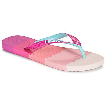 Pantofi Femei  Flip-Flops Havaianas TOP LOGOMANIA MULTICOLOR Roz
