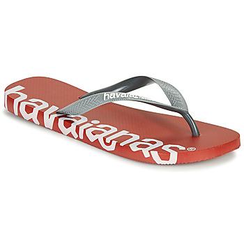 Pantofi  Flip-Flops Havaianas TOP LOGOMANIA HIGHTECH Roșu