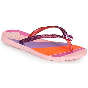 Pantofi Fete  Flip-Flops Havaianas KIDS SLIM GLITTER II Roz
