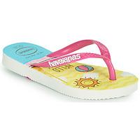 Pantofi Fete  Flip-Flops Havaianas KIDS SLIM HELLO KITTY Alb