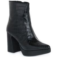 Pantofi Femei Botine Jeffrey Campbell DORMANT BLACK CROCO Nero