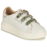 Pantofi Femei Pantofi sport Casual Serafini CONNORS Alb / Auriu / Verde