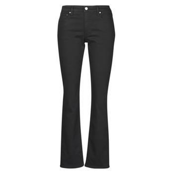 Îmbracaminte Femei Jeans drepti Lauren Ralph Lauren MIDRISE STRT-5-POCKET-DENIM Negru