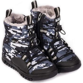 Pantofi Băieți Cizme Bibi Shoes Cizme Baieti Bibi Roller New Camuflaj cu Blanita Negru