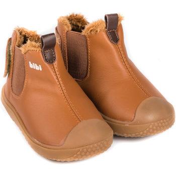 Pantofi Băieți Ghete Bibi Shoes Ghete Baieti Bibi Prewalker Caramel cu Blanita Maro