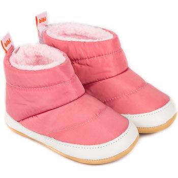 Pantofi Fete Ghete Bibi Shoes Ghete Fetite Bibi Afeto Joy Roz cu Blanita Roz
