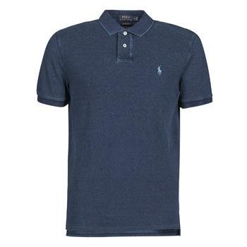 Îmbracaminte Bărbați Tricou Polo mânecă scurtă Polo Ralph Lauren POLO AJUSTE DROIT EN COTON BASIC Albastru