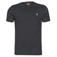 Îmbracaminte Bărbați Tricouri mânecă scurtă Polo Ralph Lauren T-SHIRT AJUSTE COL ROND EN COTON LOGO PONY PLAYER Negru