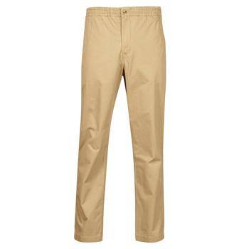Îmbracaminte Bărbați Pantalon 5 buzunare Polo Ralph Lauren PANTALON CHINO PREPSTER AJUSTABLE ELASTIQUE AVEC CORDON INTERIEU Bej