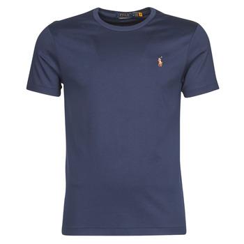 Îmbracaminte Bărbați Tricouri mânecă scurtă Polo Ralph Lauren T-SHIRT AJUSTE COL ROND EN PIMA COTON LOGO PONY PLAYER MULTICOLO Albastru