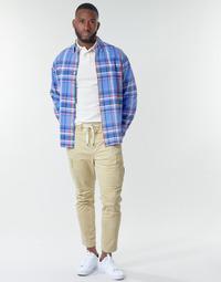 Îmbracaminte Bărbați Pantaloni Cargo Polo Ralph Lauren SHORT PREPSTER AJUSTABLE ELASTIQUE AVEC CORDON INTERIEUR LOGO PO Bej