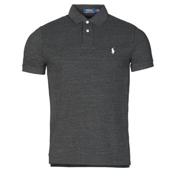 Îmbracaminte Bărbați Tricou Polo mânecă scurtă Polo Ralph Lauren POLO AJUSTE DROIT EN COTON BASIC MESH LOGO PONY PLAYER Negru
