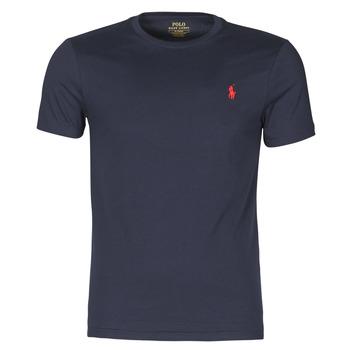 Îmbracaminte Bărbați Tricouri mânecă scurtă Polo Ralph Lauren T-SHIRT AJUSTE COL ROND EN COTON LOGO PONY PLAYER Albastru