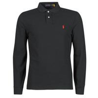 Îmbracaminte Bărbați Tricou Polo manecă lungă Polo Ralph Lauren POLO AJUSTE DROIT EN COTON BASIC MESH LOGO PONY PLAYER Negru