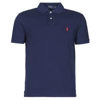 Îmbracaminte Bărbați Tricou Polo mânecă scurtă Polo Ralph Lauren POLO AJUSTE DROIT EN COTON BASIC MESH LOGO PONY PLAYER Albastru