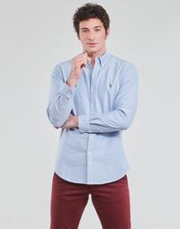 Îmbracaminte Bărbați Cămăsi mânecă lungă Polo Ralph Lauren LORENZ Albastru