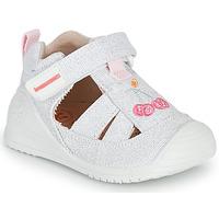 Pantofi Fete Sandale  Biomecanics 212213 Argintiu / Alb