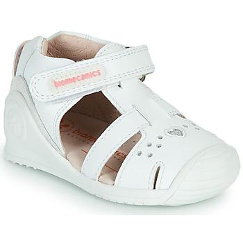 Pantofi Fete Sandale  Biomecanics 212104 Alb / Argintiu