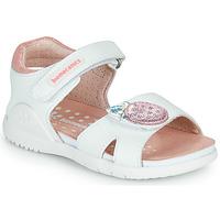 Pantofi Fete Sandale  Biomecanics 212163 Alb / Roz