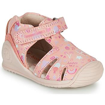 Pantofi Fete Sandale  Biomecanics 212107 Roz