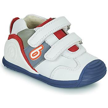 Pantofi Băieți Pantofi sport Casual Biomecanics 202148 Alb / Albastru / Roșu