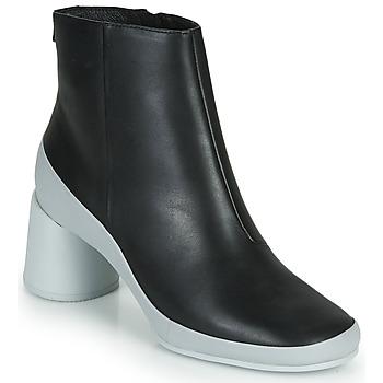 Pantofi Femei Botine Camper UPRIGHT Negru / Alb
