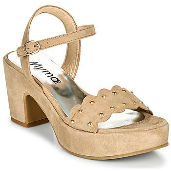 Pantofi Femei Sandale  Myma POULIDOU Taupe