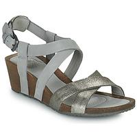 Pantofi Femei Sandale  Teva MAHONIA WEDGE CROSS STRAP ML Gri / Metal