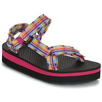 Pantofi Fete Sandale  Teva C MIDFORM FRAY Roz / Multicolor